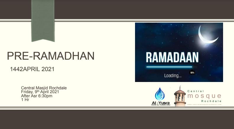 PRE-RAMADHAN Talk April 2021
