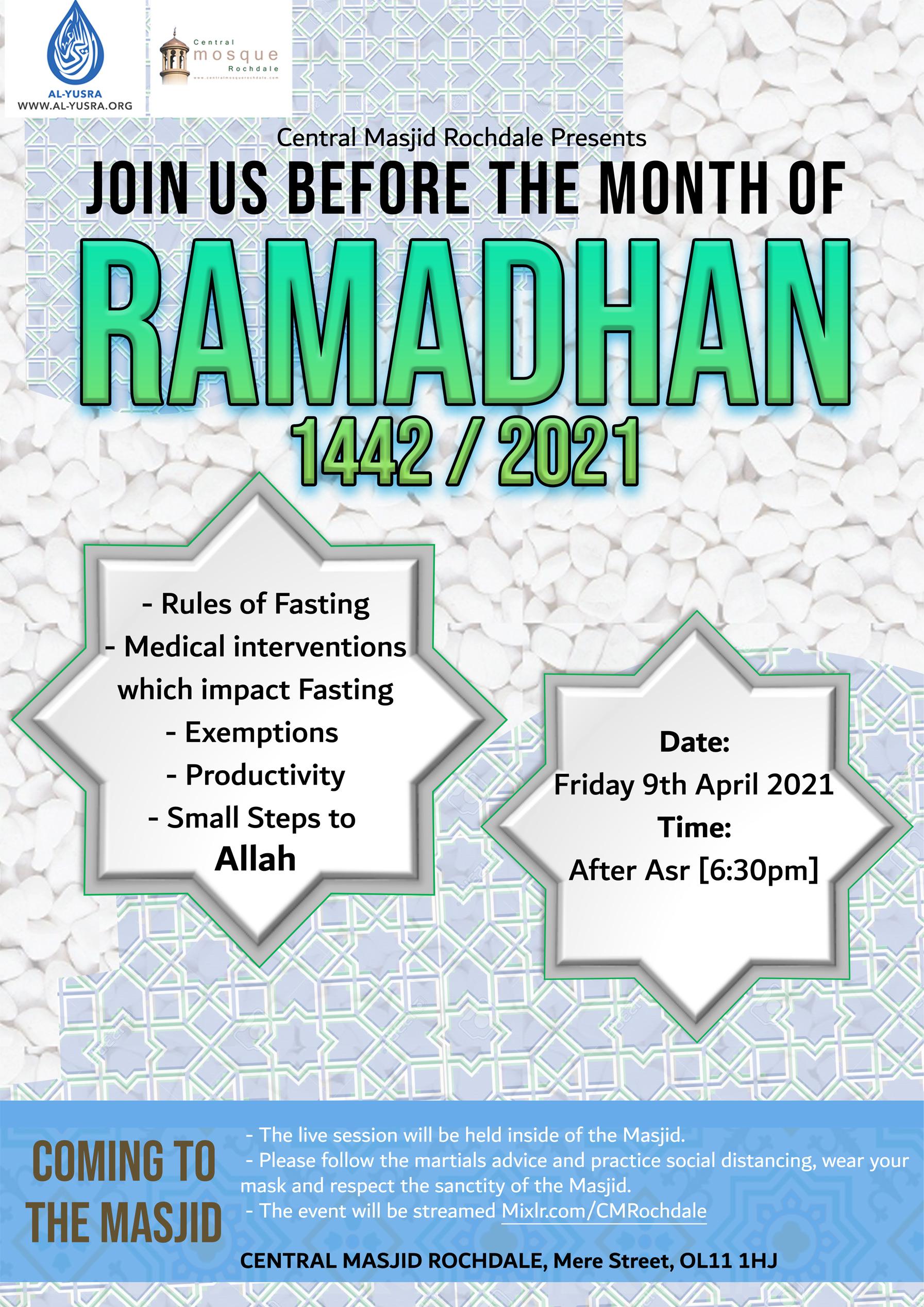 Pre-Ramadhan talk this week.